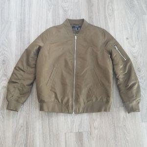 Forever 21 Olive Green Bomber Jacket